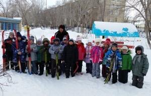 Юные лыжники